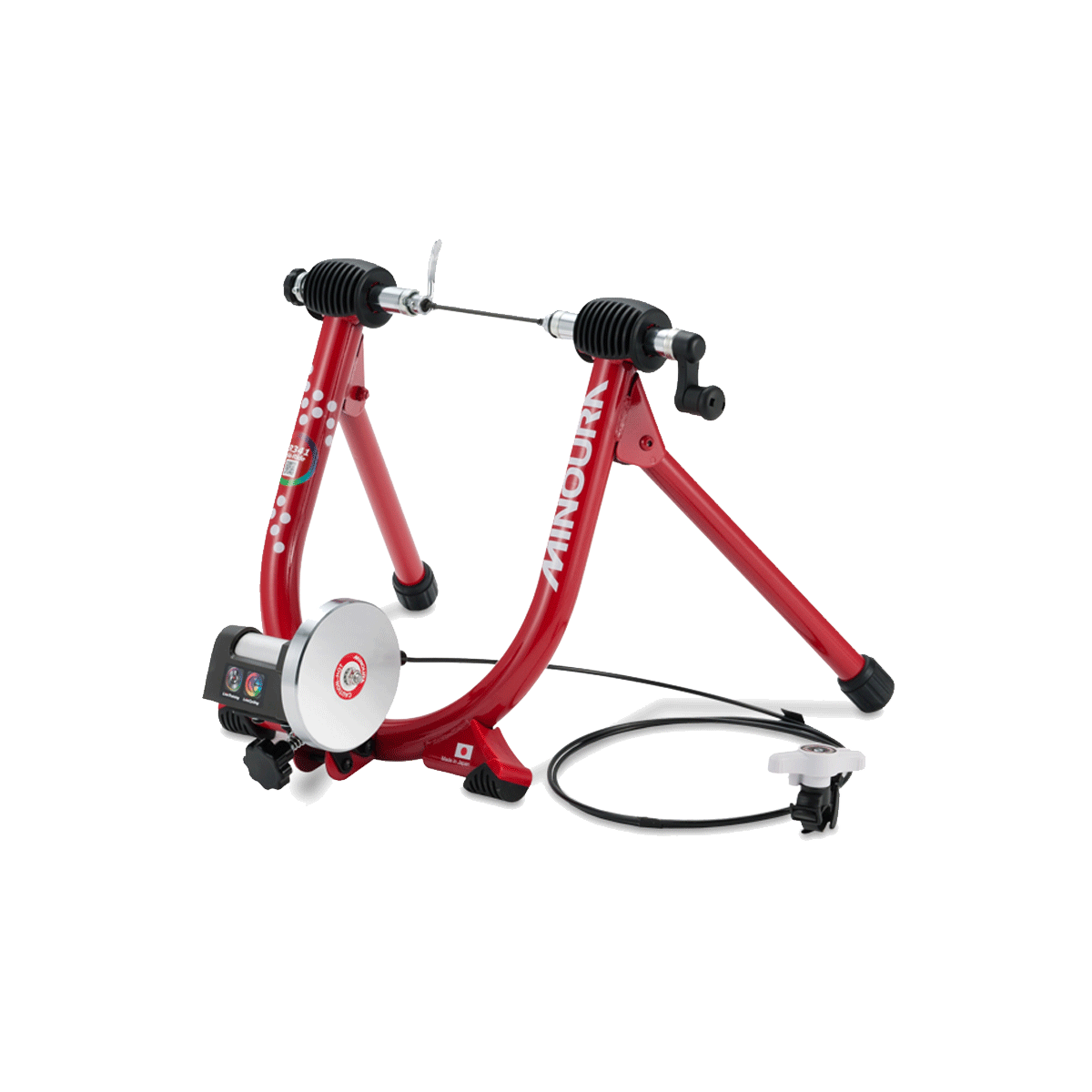 Minoura LR341 Trainer Red: Allows High-Speed/Low-Resistance Training